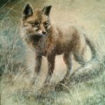 """""""The fox"""". Akryl på canvas. 41*33 cm, 2013."""